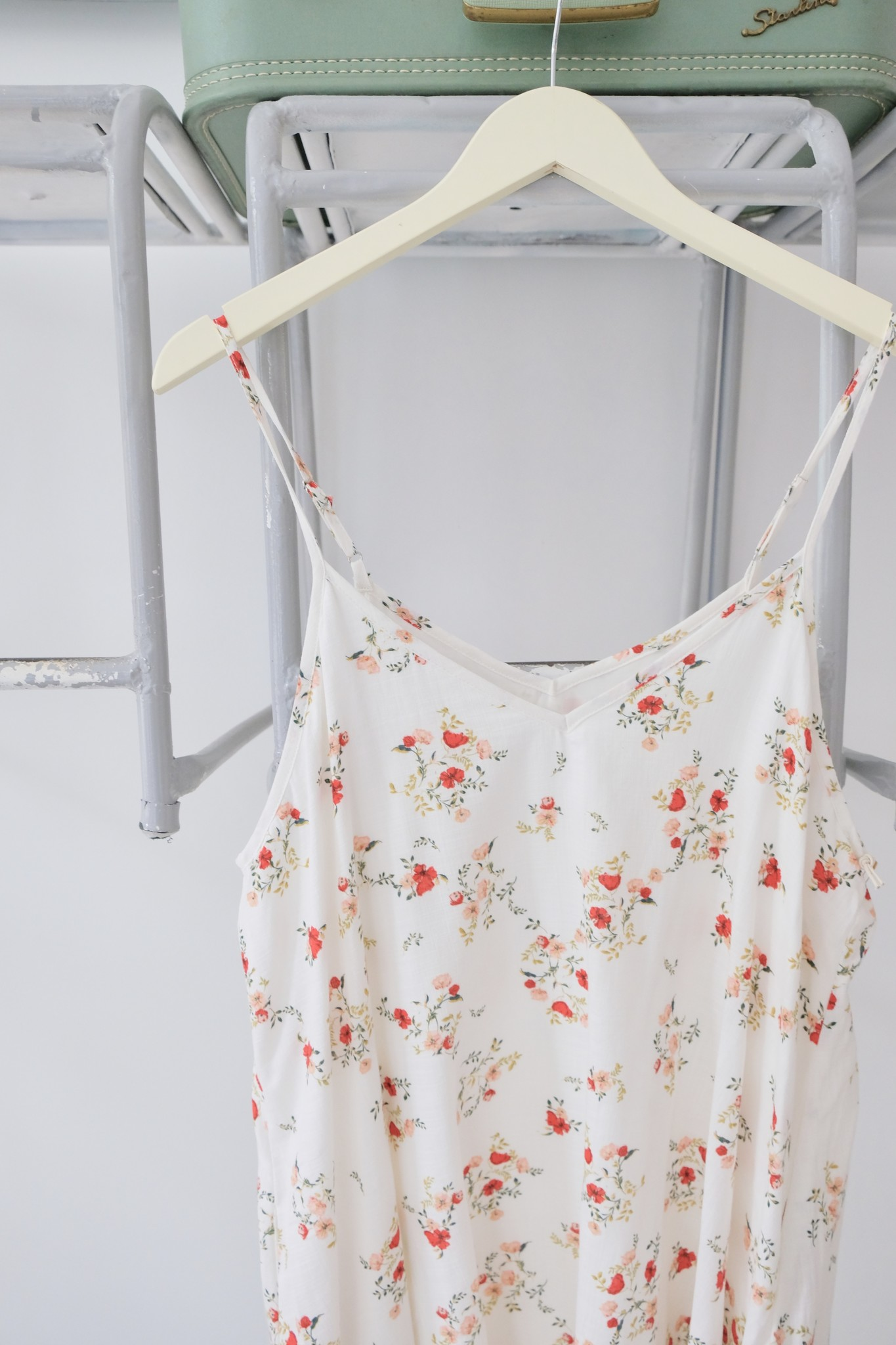 White Floral Swing Dress