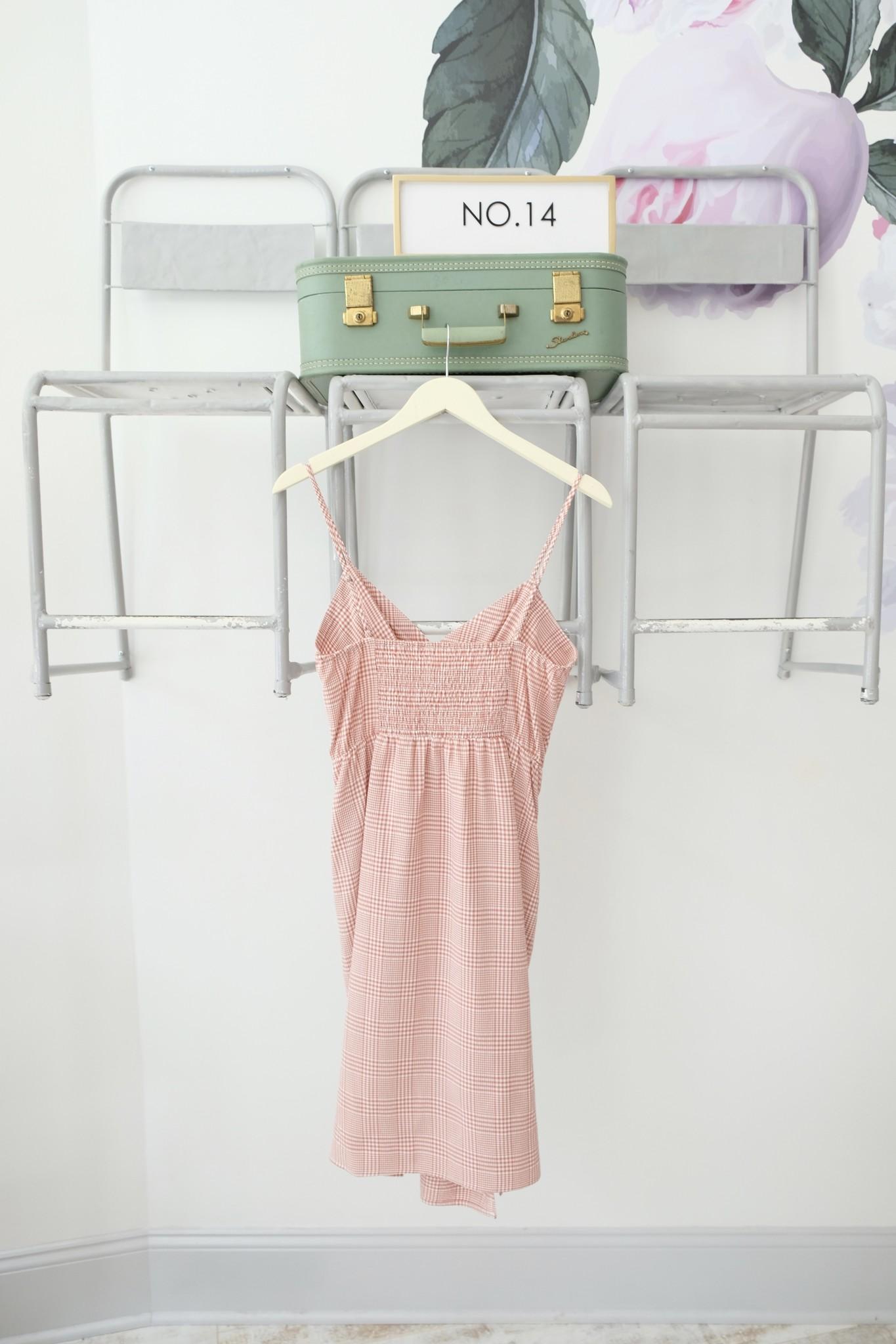 Gingham Twist Midi Dress