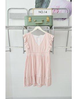 Pink & White Gingham Dress