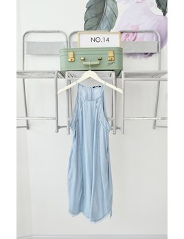 Chambray Halter Neckline Dress