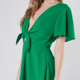Tie Front Flare Dress