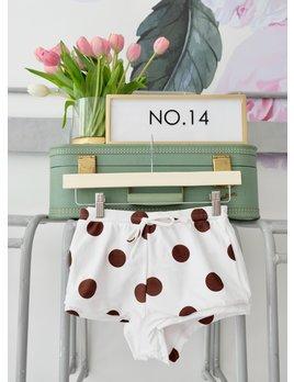 Brown & White Polka Dot Bikini Bottom