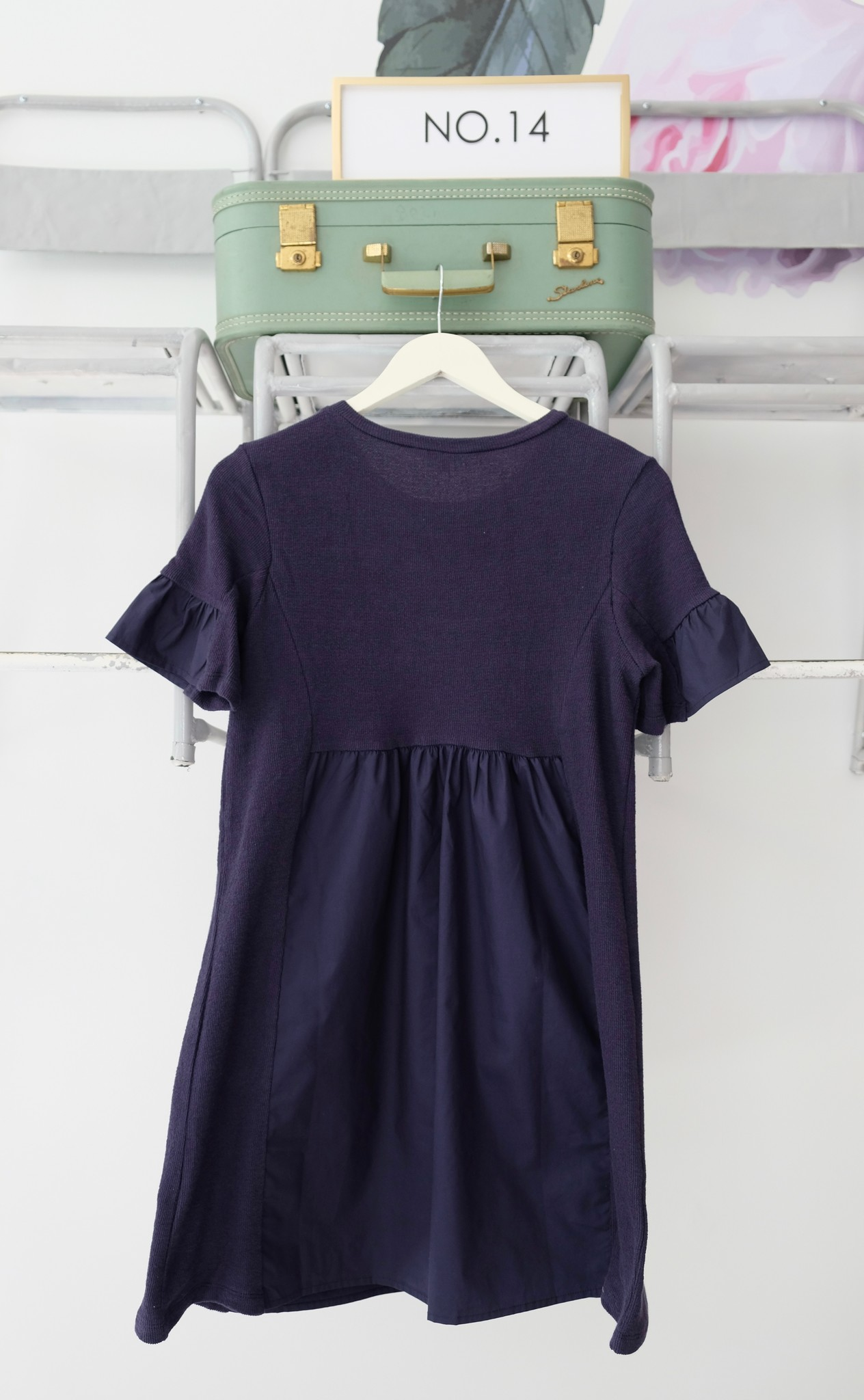 Mixed Media Shirt Dress