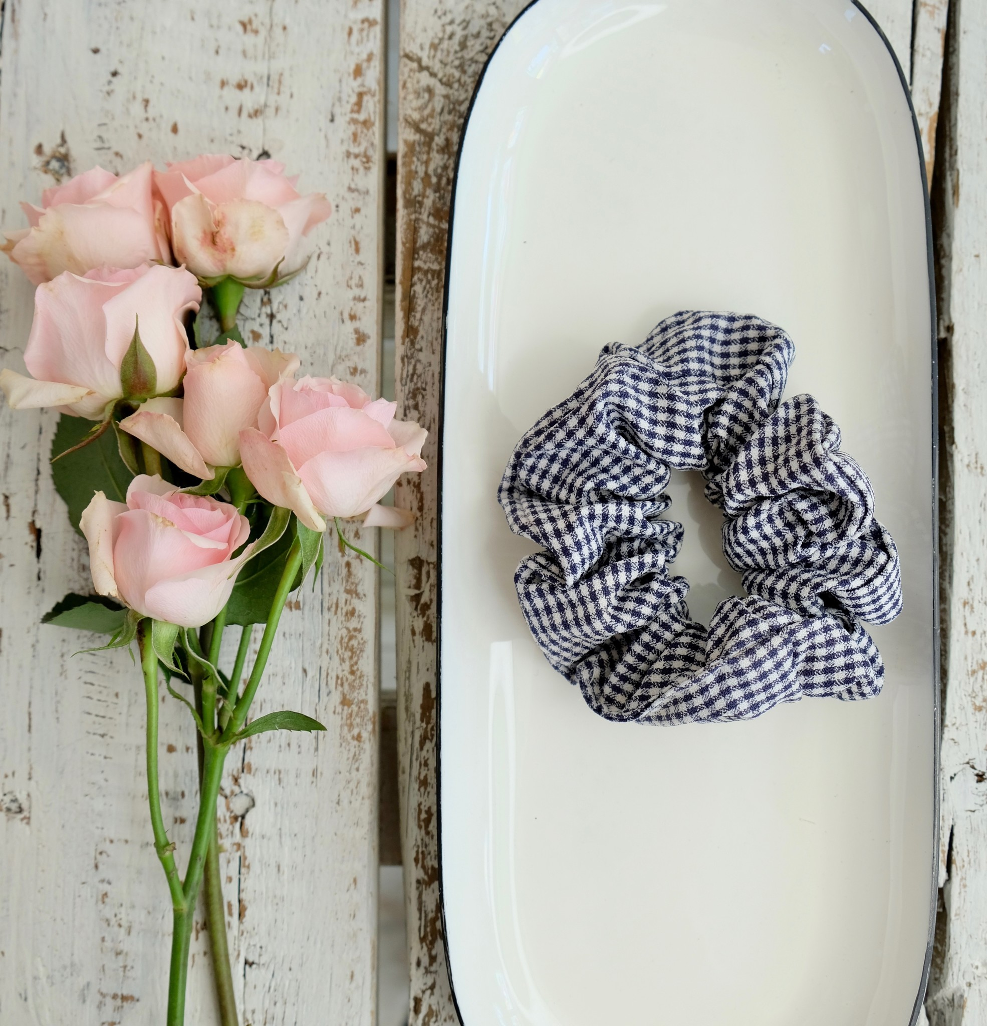 Gingham Scrunchie