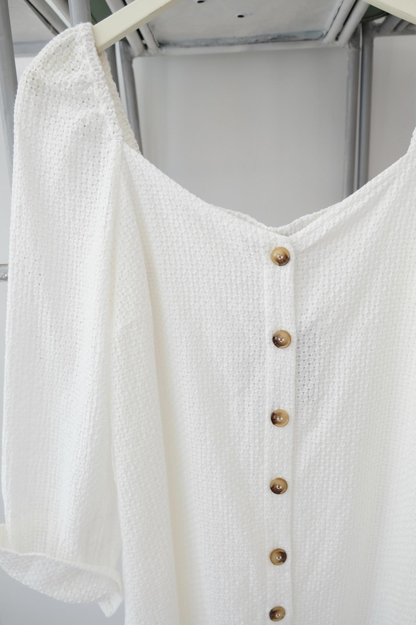 White Knit Long Sleeve Dress