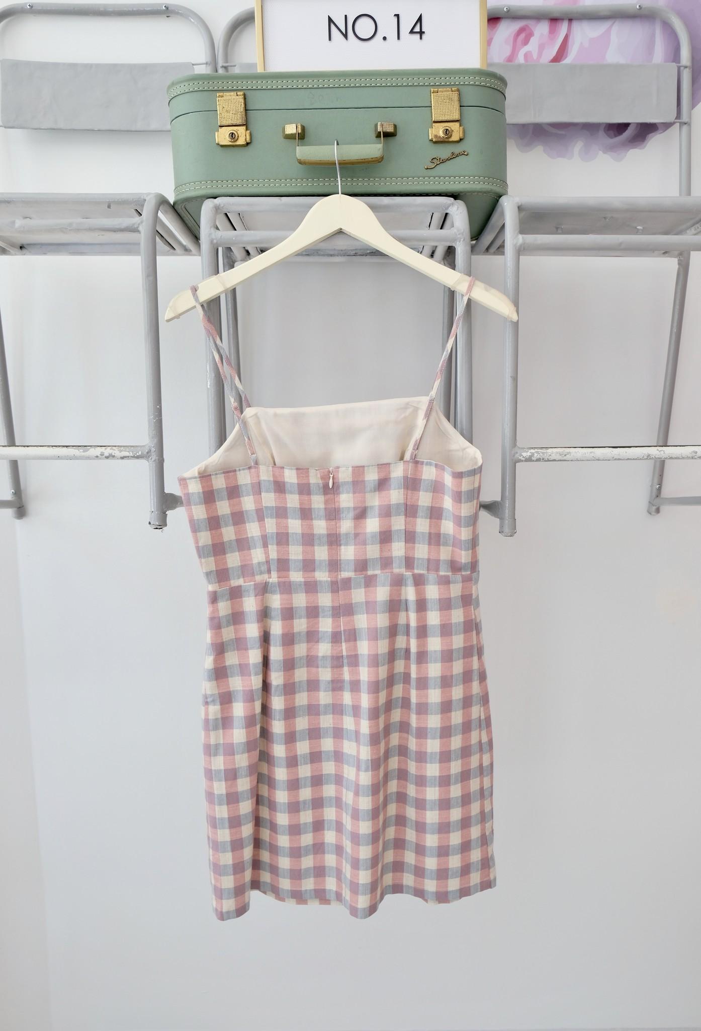 Pastel Gingham Mini Dress