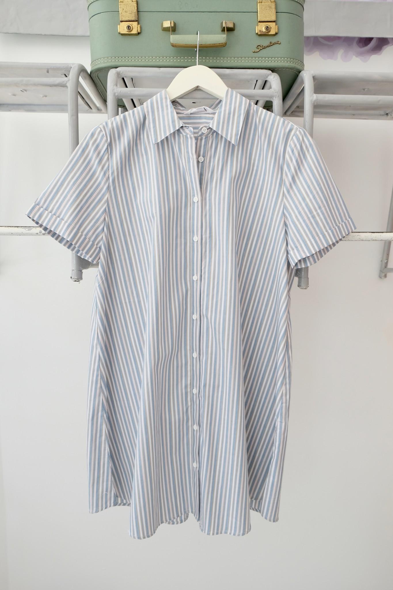Striped Shortsleeve Shirtdress