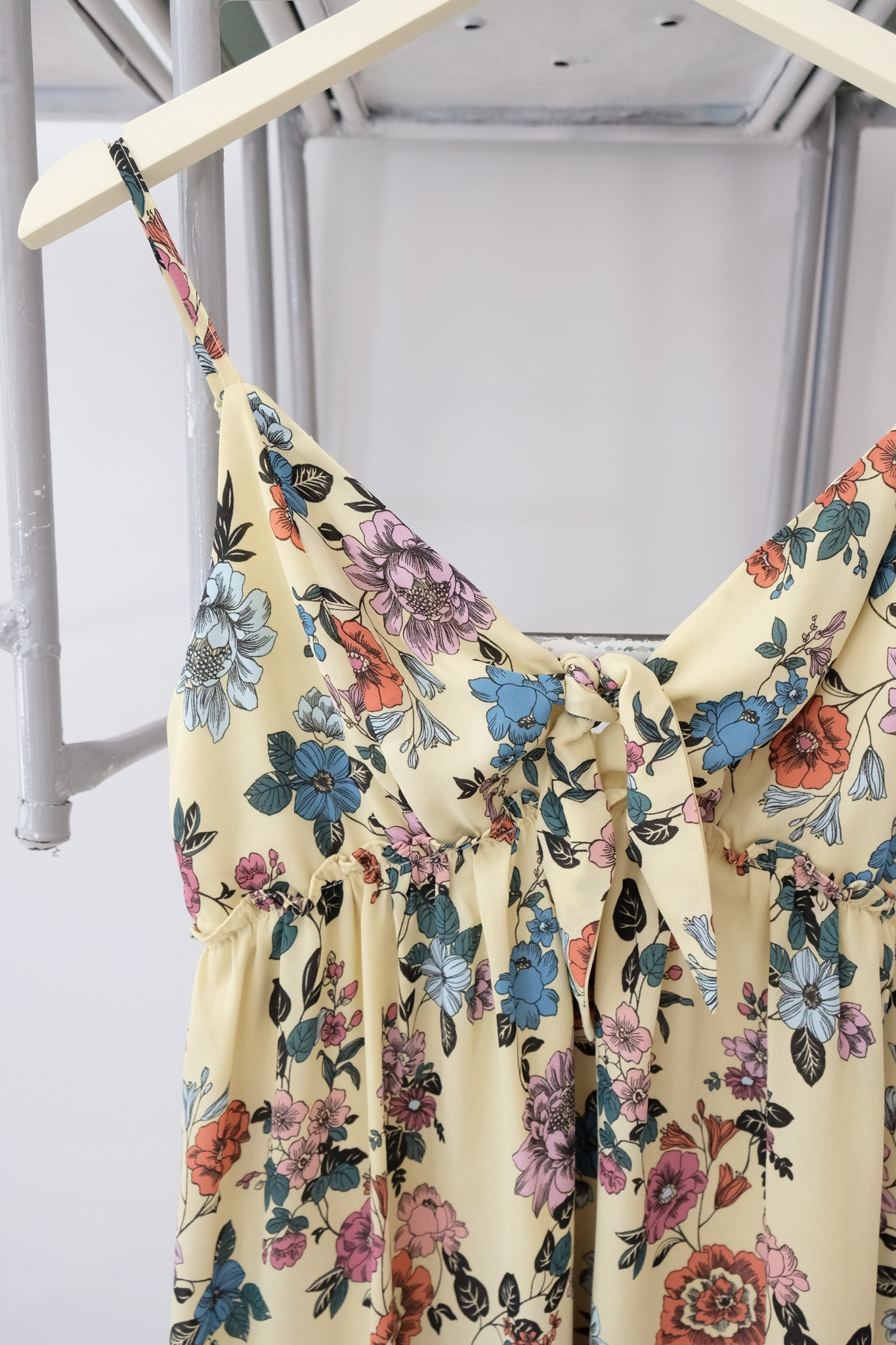 Yellow Pastel Floral Babydoll Dress