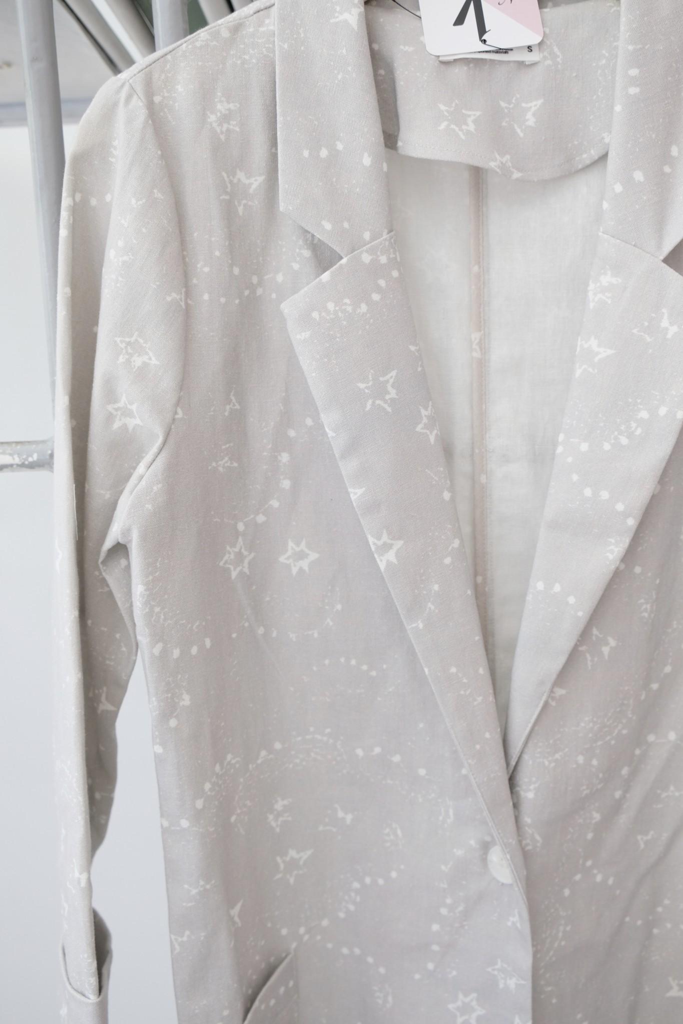 Star Printed Blazer