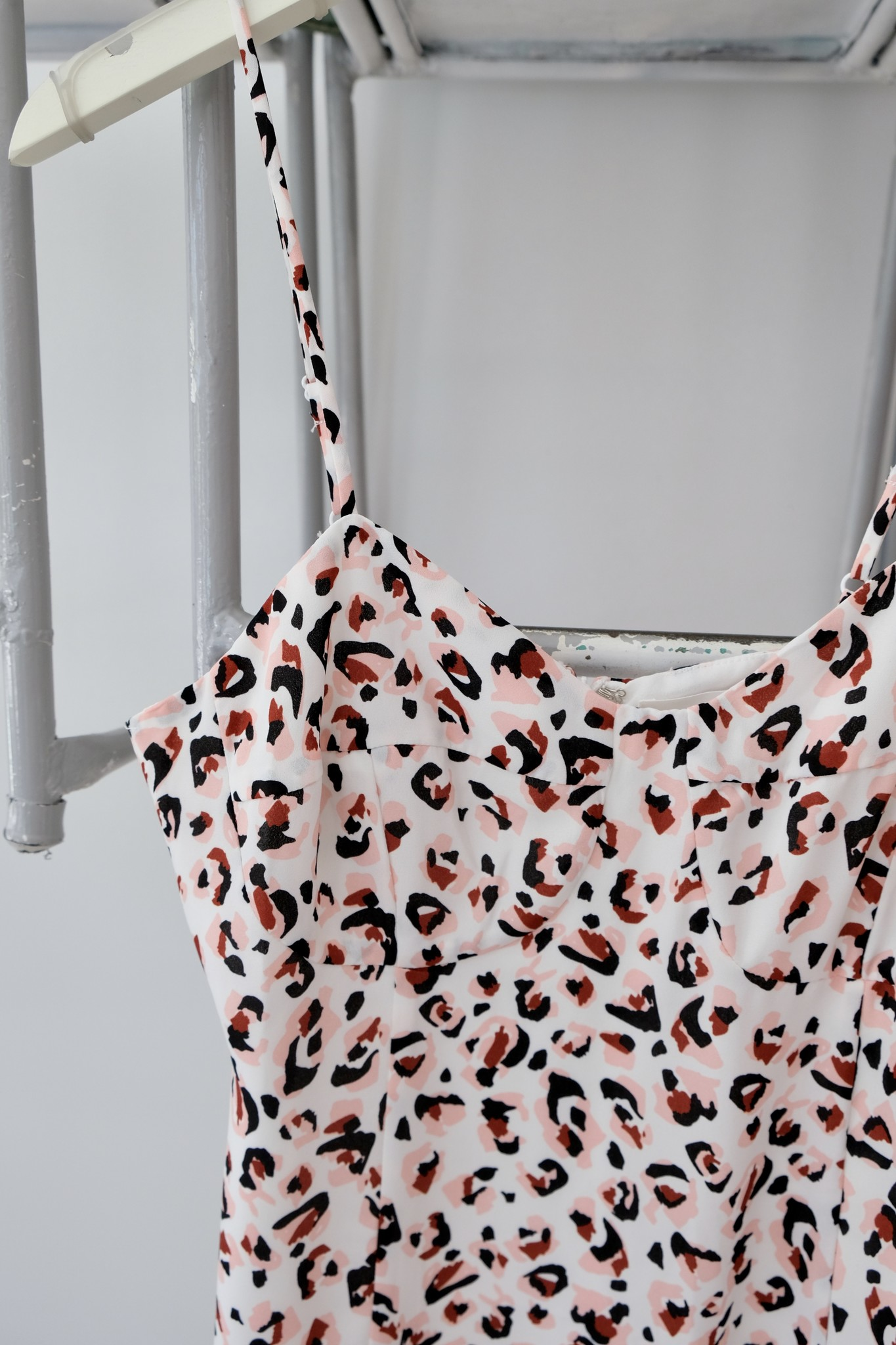 Leopard Ruffle Hem Mini Dress