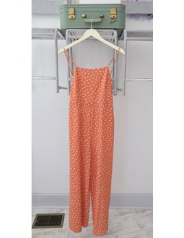 Polka Dot Low Back Jumpsuit