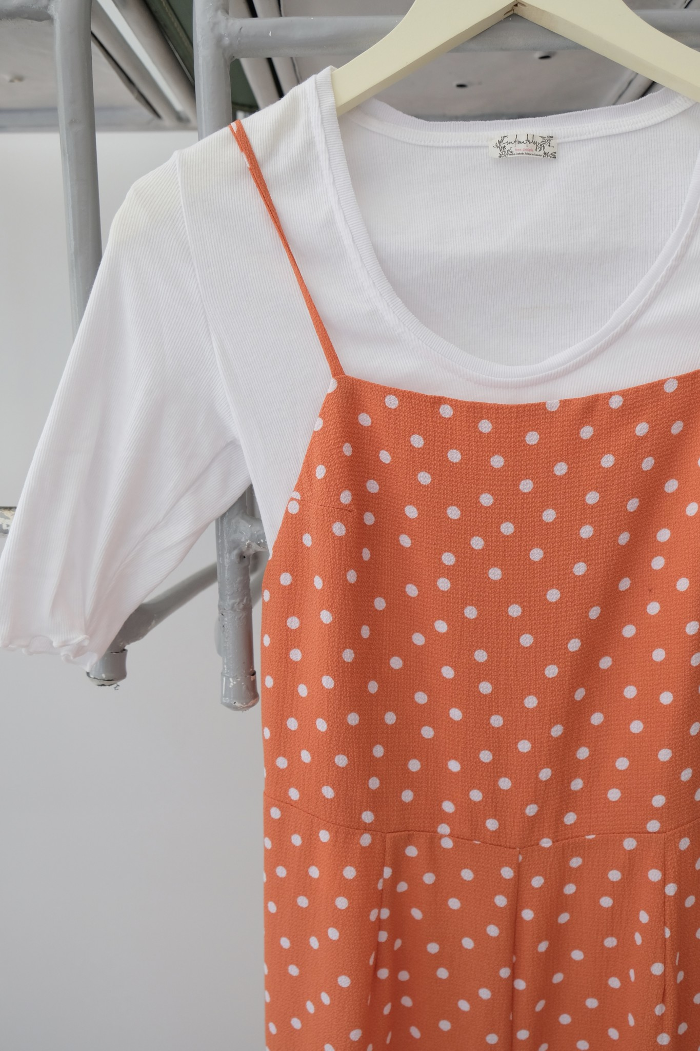 Polka Dot Low Back Jumpsuit
