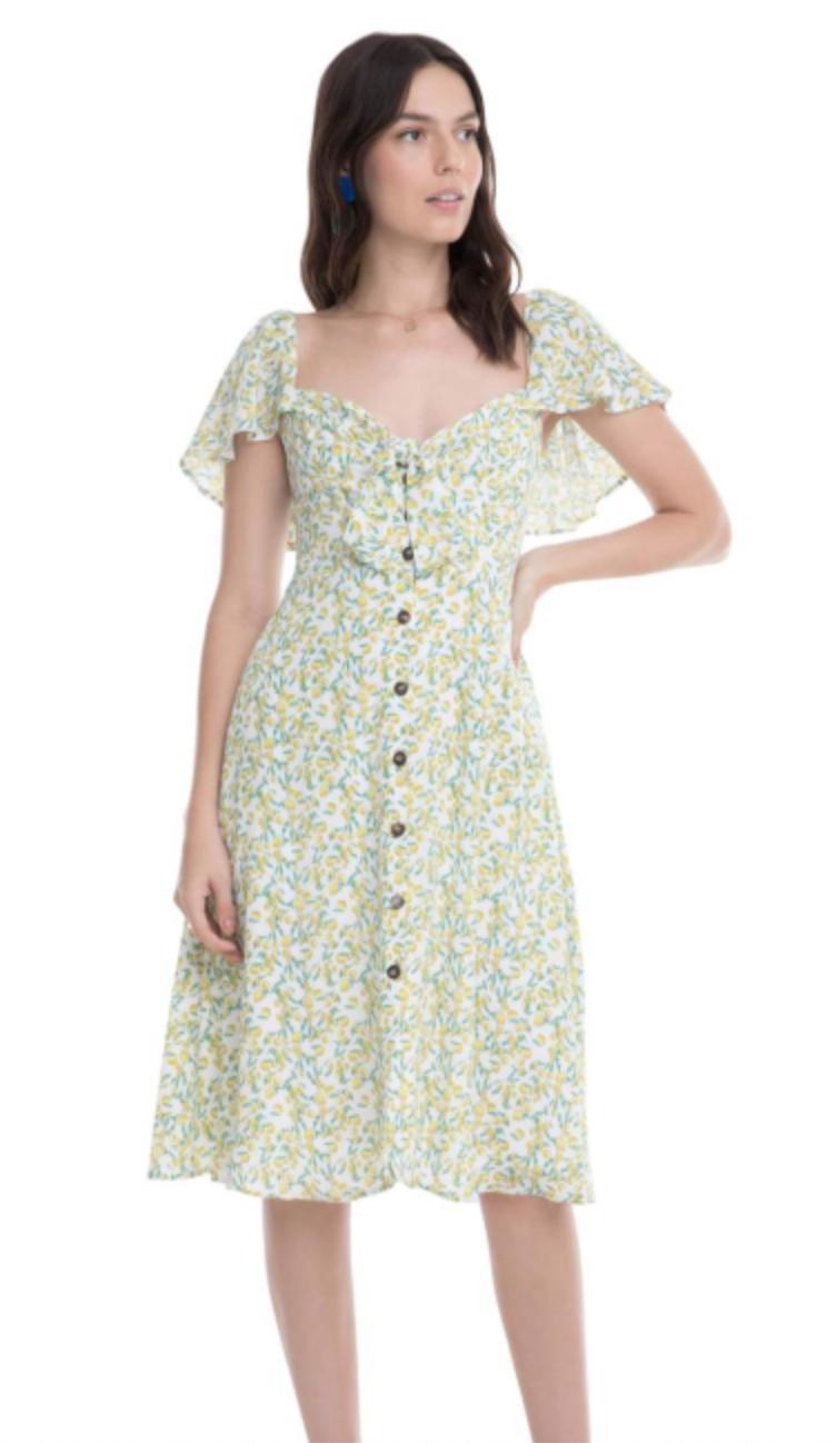 Lemon Drop Midi Dress