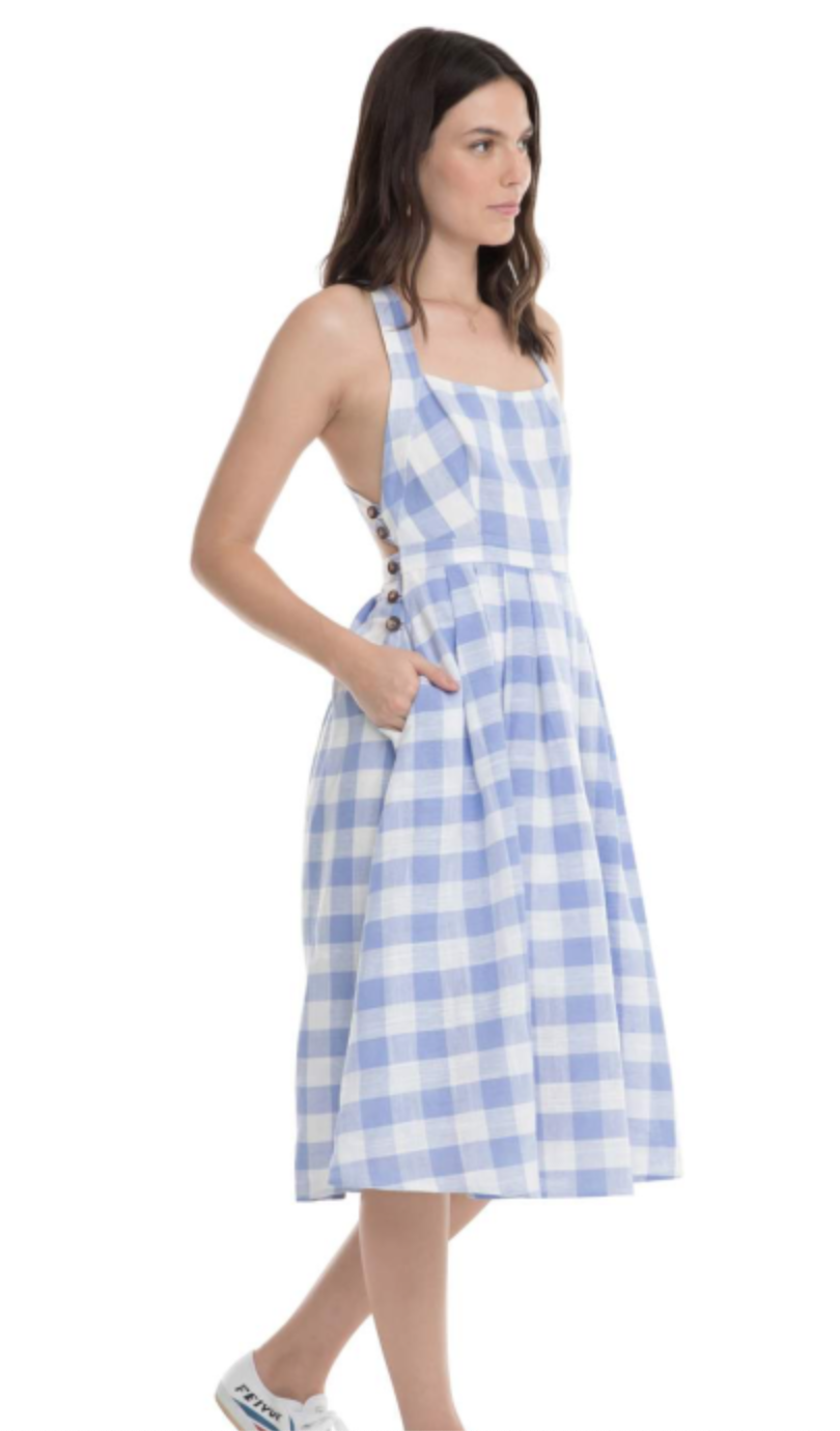 Periwinkle Check Dress