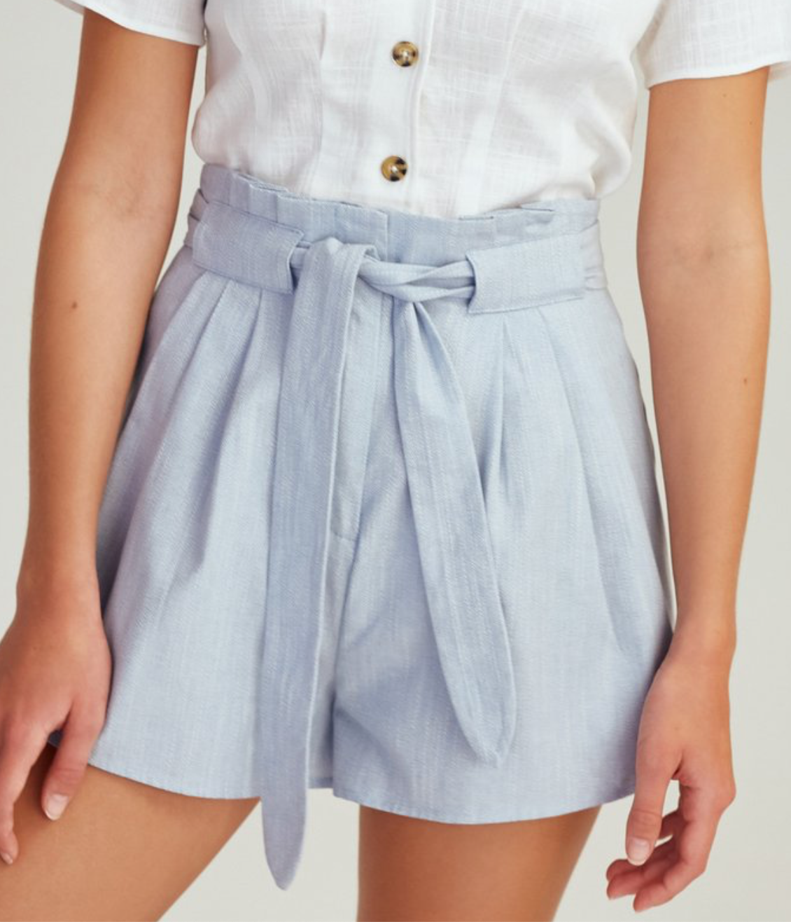 Light Blue Tie Shorts
