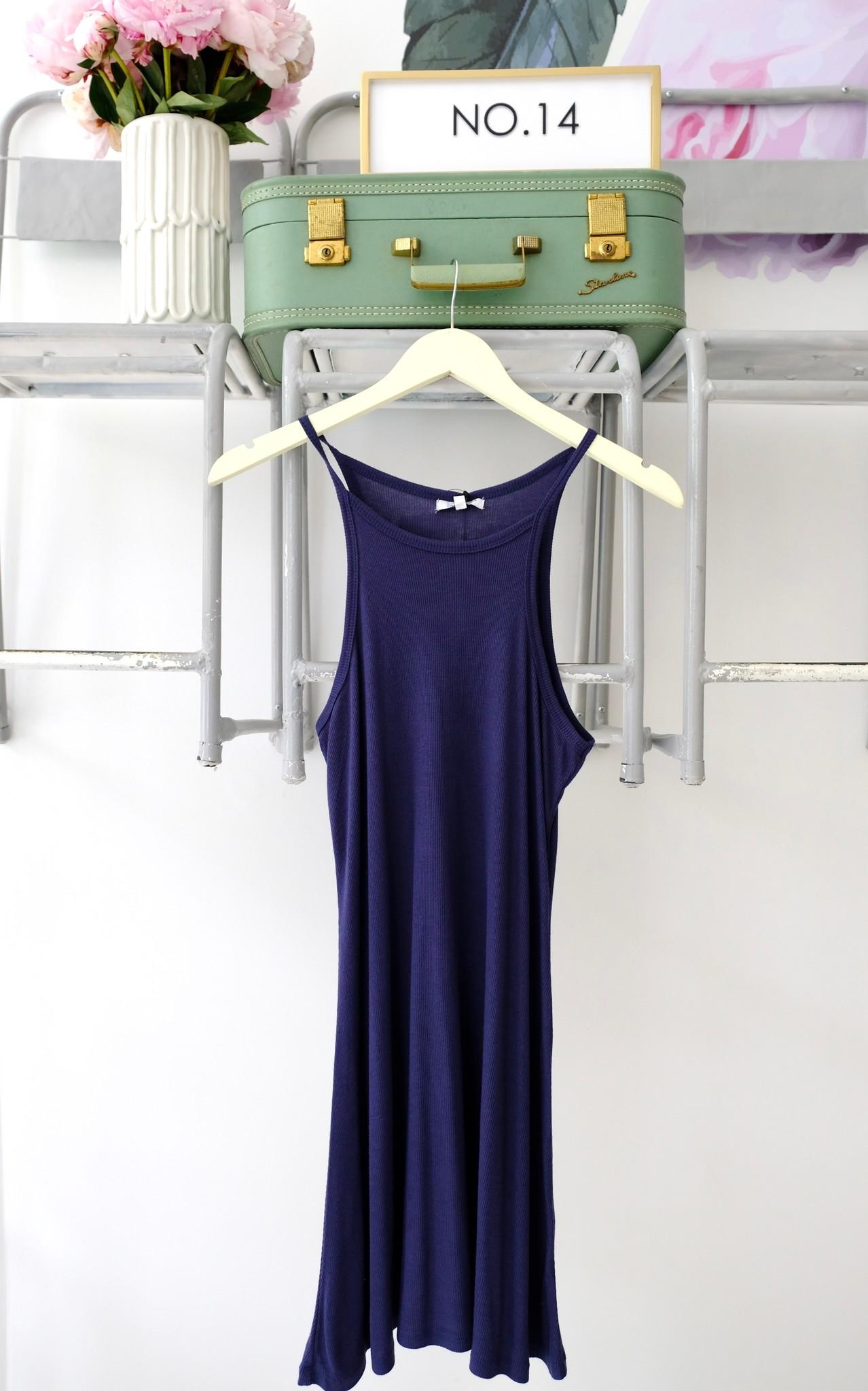 Navy Rib Swing Dress