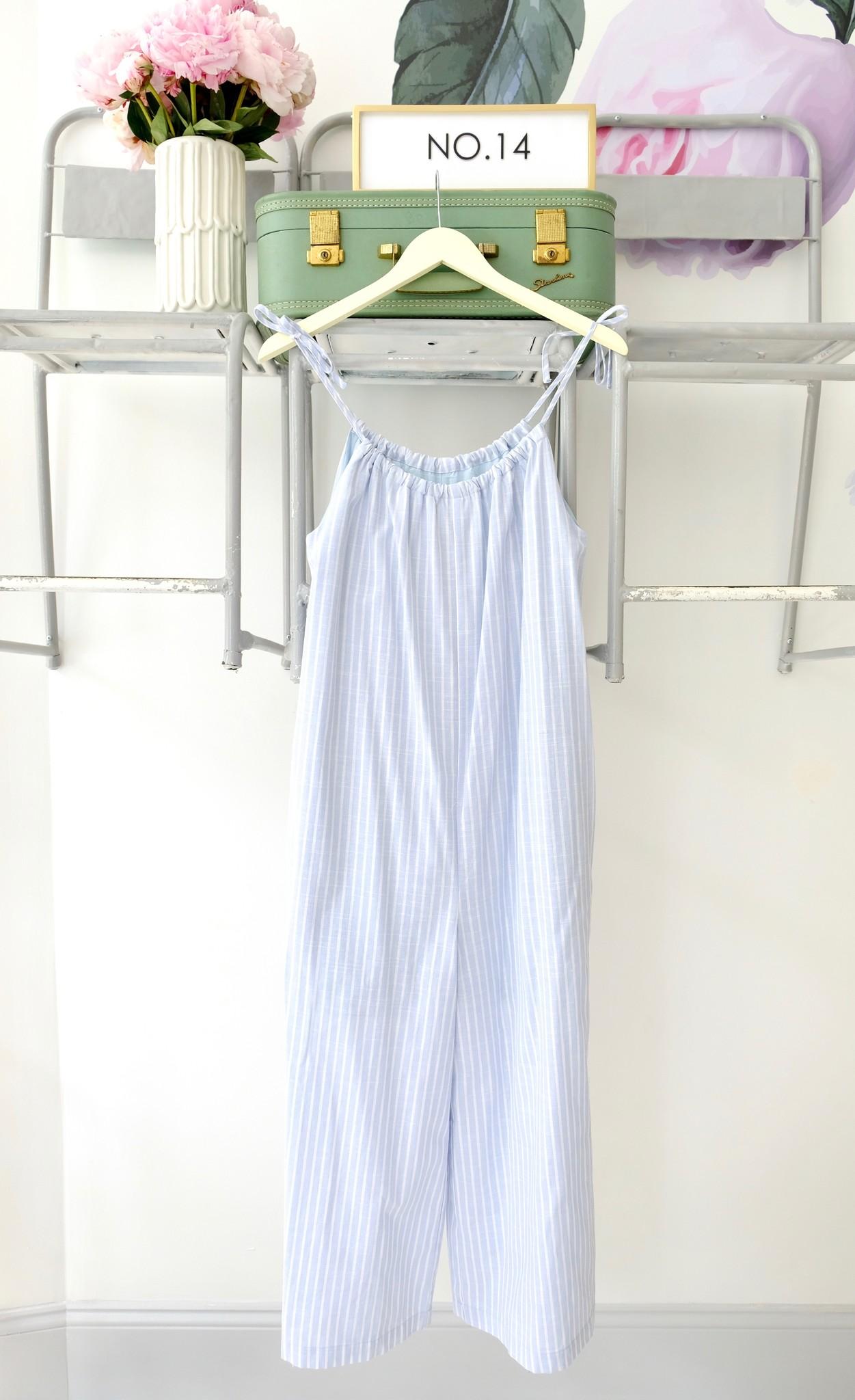 Blue & White Jumpsuit