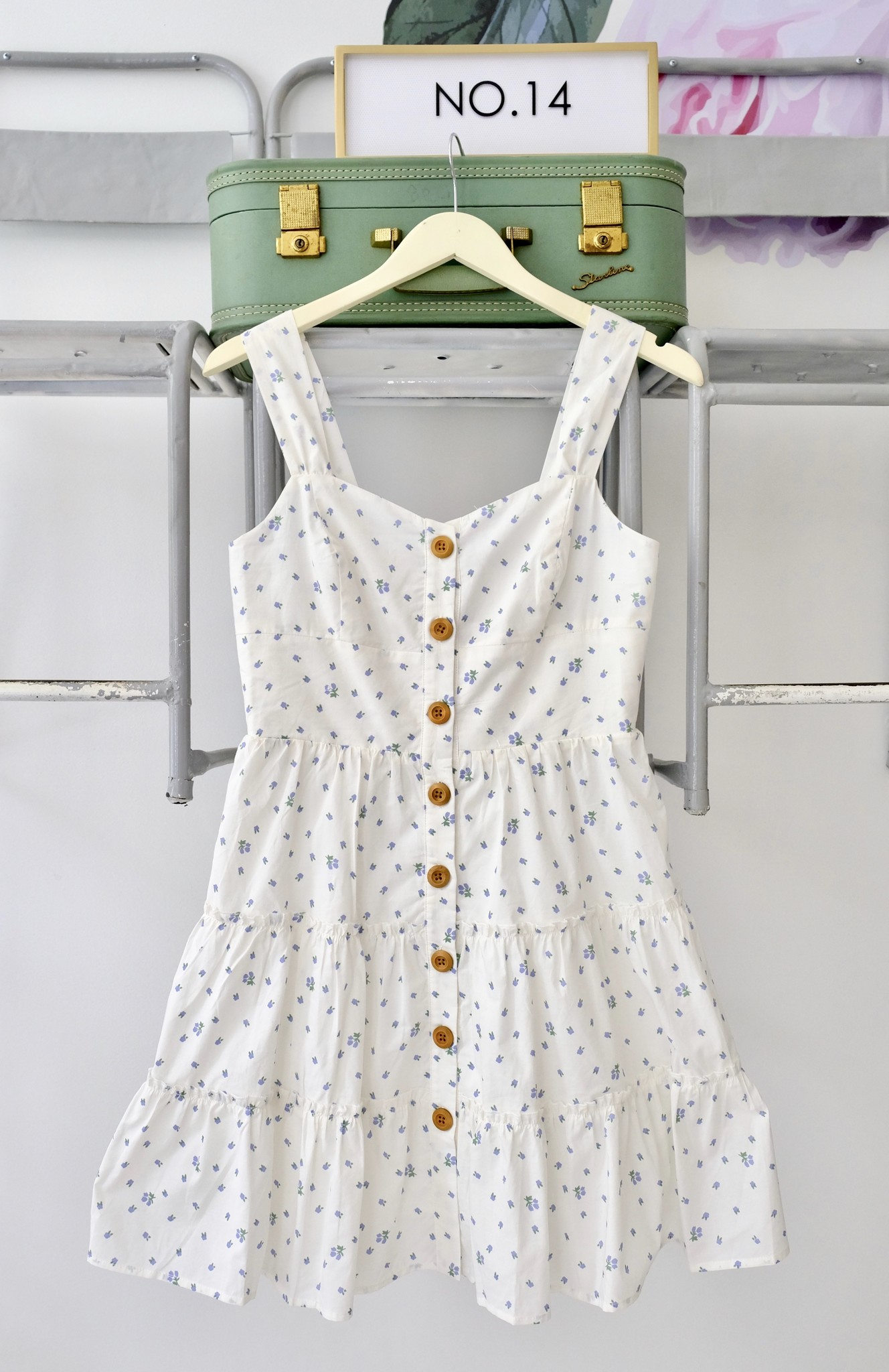 Floral Button Down Tiered Dress