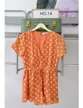 Orange Dot Romper