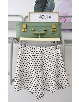 White Ditsy Floral Short