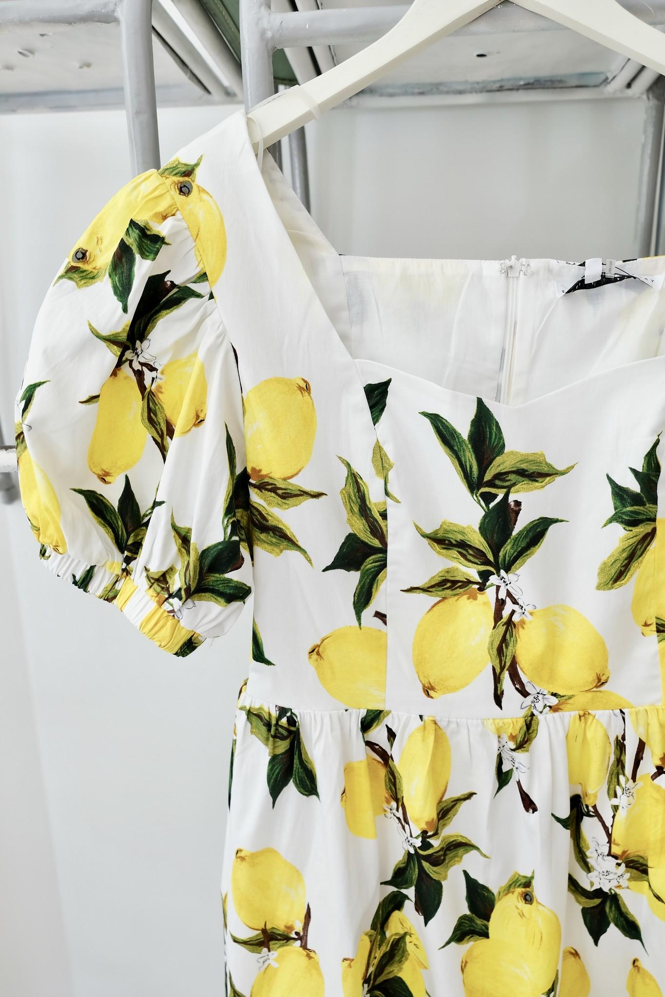 Lemon Print Mini Dress