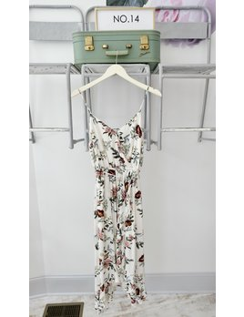 Ivory Floral Wrap Midi