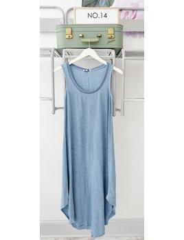 Ribbed Jersey Midi Dress