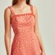 Ditsy Floral Ruffle Strap Dress