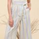Rainbow Stripe Lace-up Jumpsuit