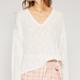 Cream Long Sleeve Lightweight Knit