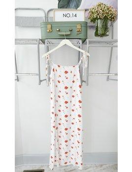 Red Floral Slip Dress