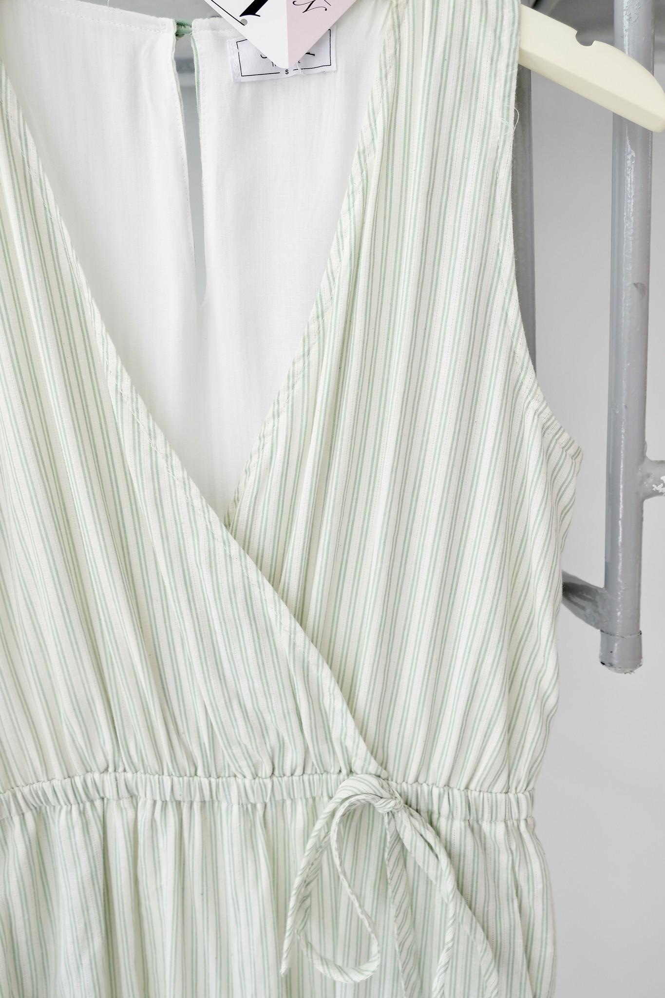 Mint Striped Jumpsuit