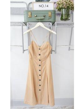 Checked Button Down Midi Dress