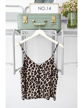 Leopard Button Down Tank