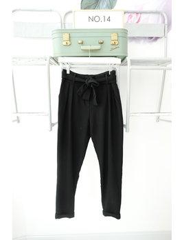 Black Tie Belt Trousers