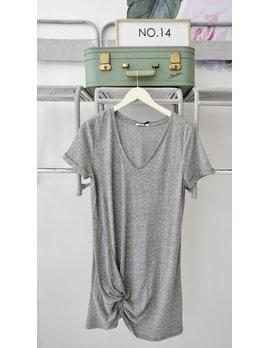 Side Knot T-shirt Dress