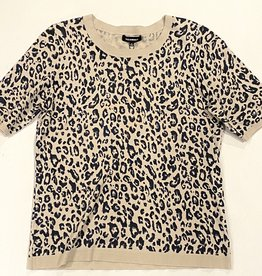 525america Leopard print elbow sleeve top