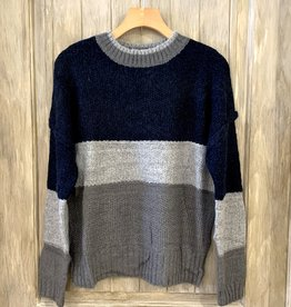 Hem & Thread Color Block Sweater