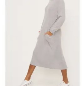 Lush cozy long sleeve dress with pockets