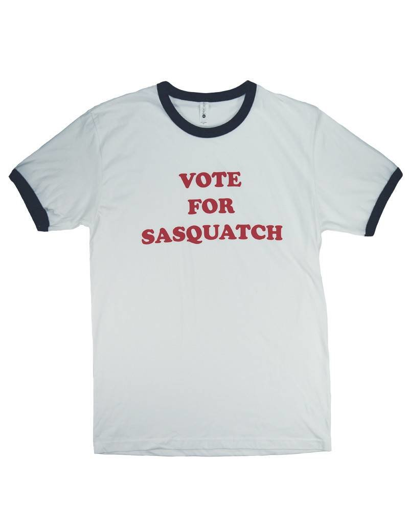 Vote for Sasquatch - Ringer T Shirt