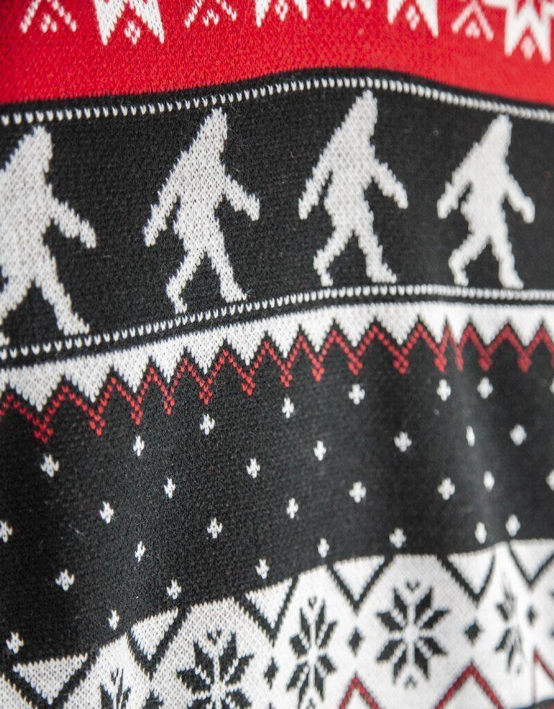 Sasquatch Nordic Holiday Sweater