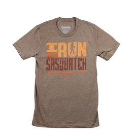I Run With Sasquatch T-Shirt Heather Brown