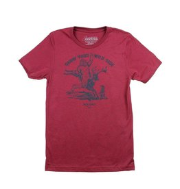 Sasquatch Takes A Ride T-Shirt Burnt Red