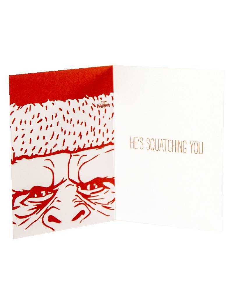 Holiday Card Sasquatch Better Behave