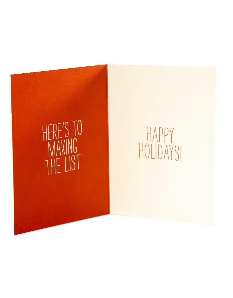 Holiday Card Sasquatch Naughty List
