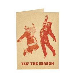 Holiday Card Sasquatch Hang 10!