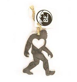 Sasquatch Holiday Heart Ornament