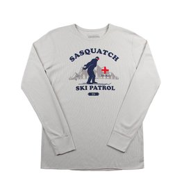 Sasquatch Ski Patrol Thermal Long Sleeve Stone