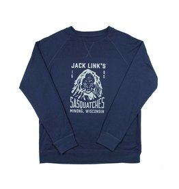 Team Sasquatches Terry Crew Neck Sweatshirt Navy Blue