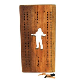 Sasquatch Cribbage Board
